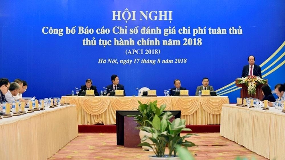 Công bố Báo cáo Chỉ số đánh giá chi phí tuân thủ thủ tục hành chính năm 2018